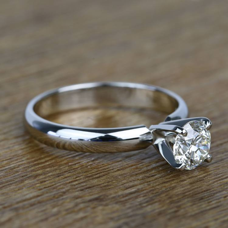 Comfort-Fit 0.85 Carat Round Solitaire Diamond Engagement Ring angle 3