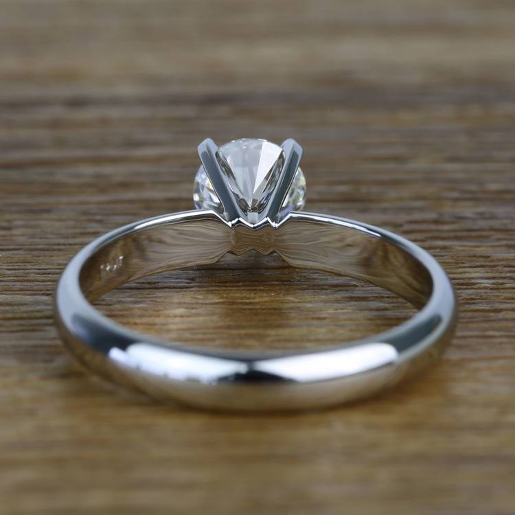 Comfort-Fit 0.85 Carat Round Solitaire Diamond Engagement Ring angle 4