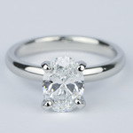 Flawless Oval Diamond Solitaire Engagement Ring - small