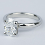 Flawless Oval Diamond Solitaire Engagement Ring - small angle 2