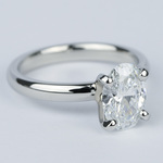 Flawless Oval Diamond Solitaire Engagement Ring - small angle 3
