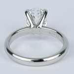 Flawless Oval Diamond Solitaire Engagement Ring - small angle 4