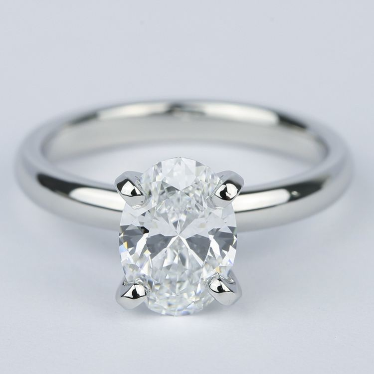 Flawless Oval Diamond Solitaire Engagement Ring