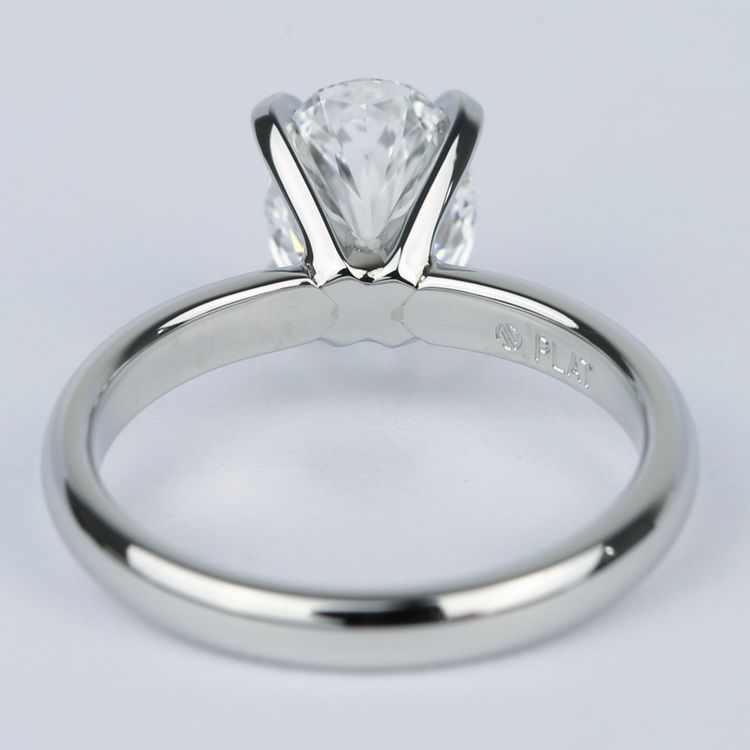 Flawless Oval Diamond Solitaire Engagement Ring angle 4