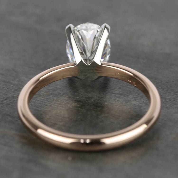 1.40 Carat Oval Diamond Solitaire Ring with Claw Prongs angle 4