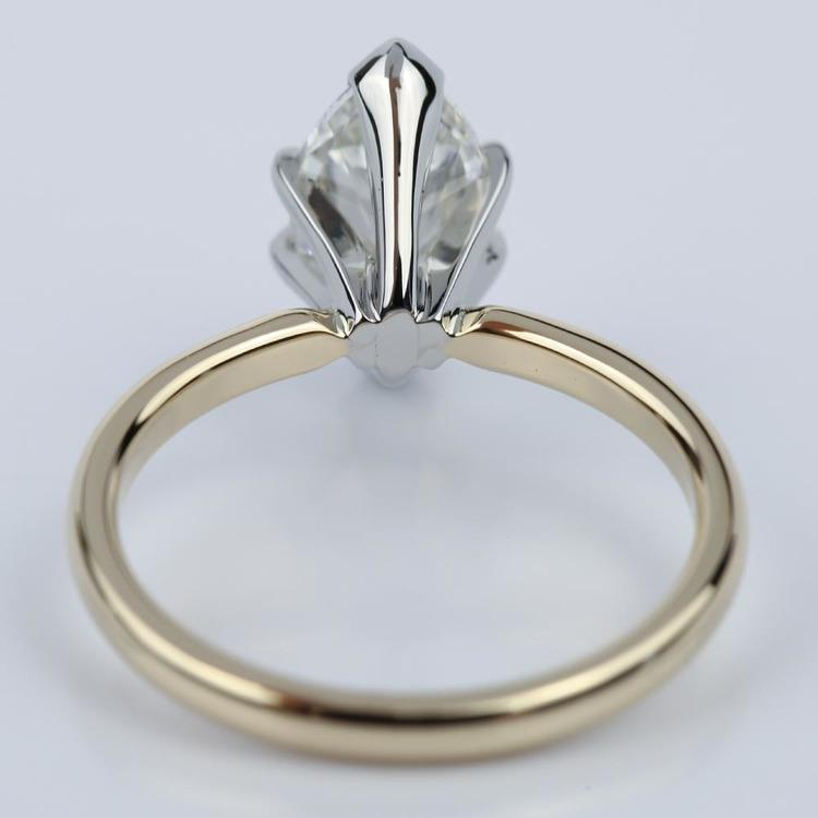 Comfort-Fit 1.51 Carat Marquise Solitaire Engagement Ring angle 4