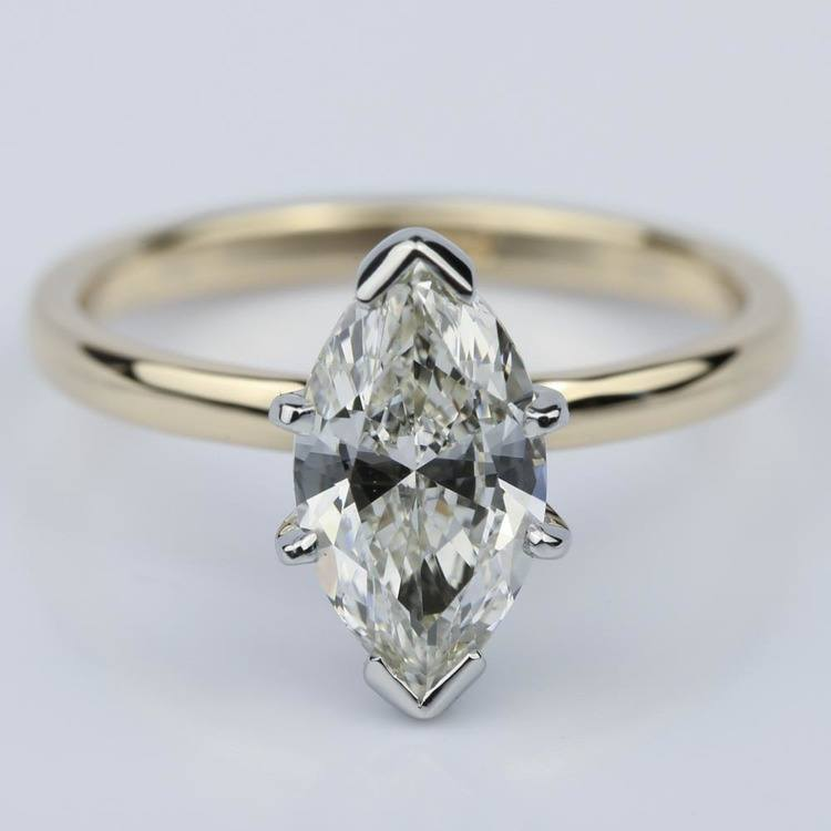 Comfort-Fit 1.51 Carat Marquise Solitaire Engagement Ring
