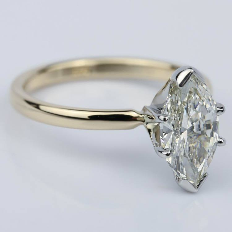 Comfort-Fit 1.51 Carat Marquise Solitaire Engagement Ring angle 3