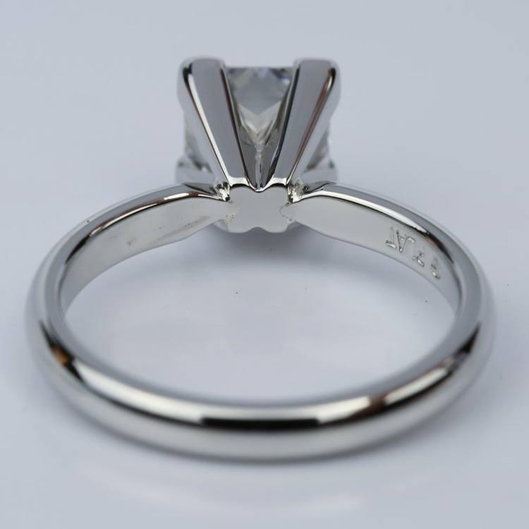 Comfort-Fit Princess Cut Diamond Solitaire Engagement Ring (1.55 ct.) angle 4