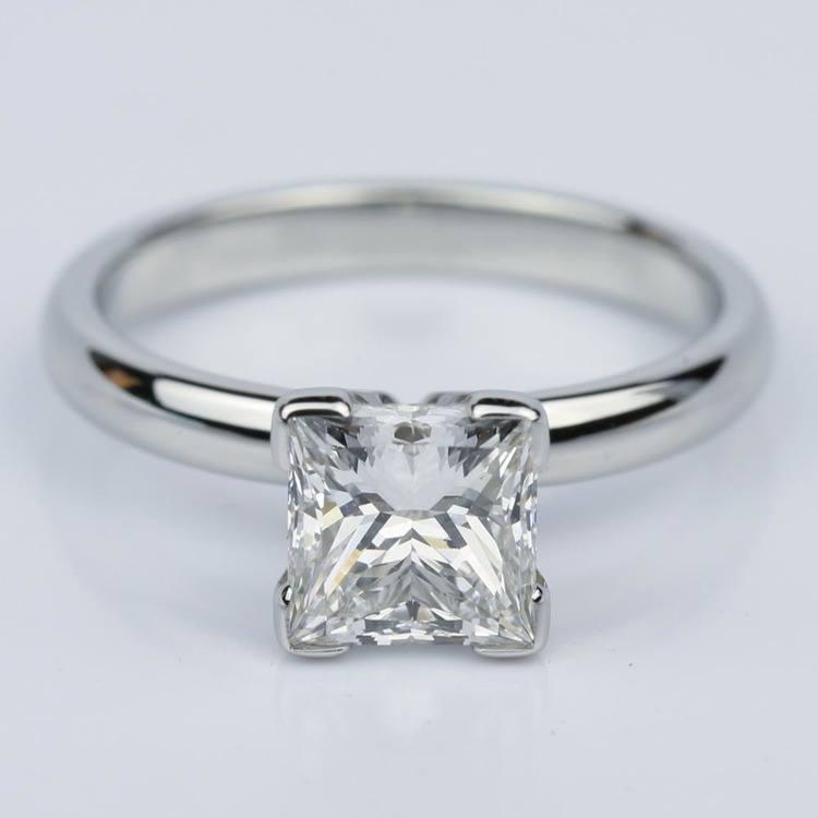 Comfort-Fit Princess Cut Diamond Solitaire Engagement Ring (1.55 ct.)