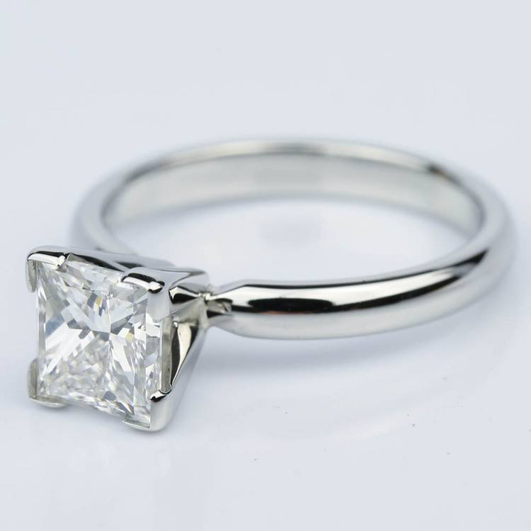 Comfort-Fit Princess Cut Diamond Solitaire Engagement Ring (1.55 ct.) angle 2