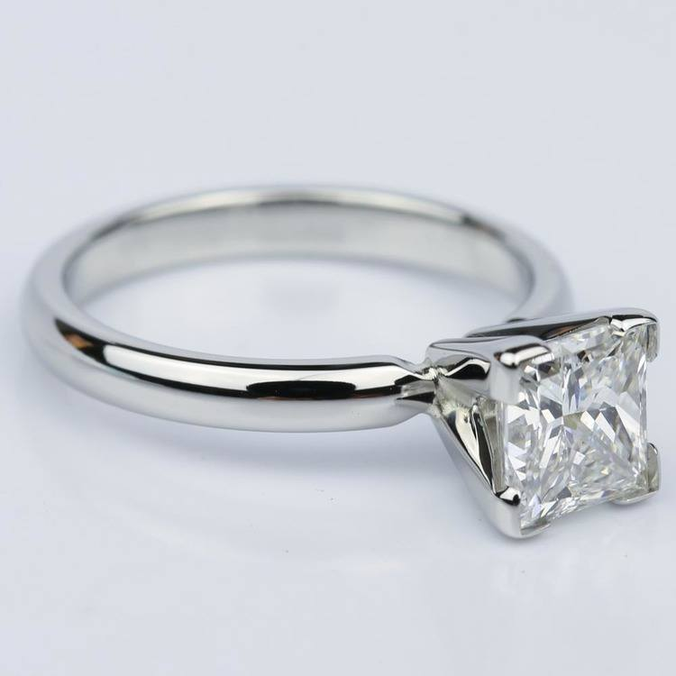 Comfort-Fit Princess Cut Diamond Solitaire Engagement Ring (1.55 ct.) angle 3