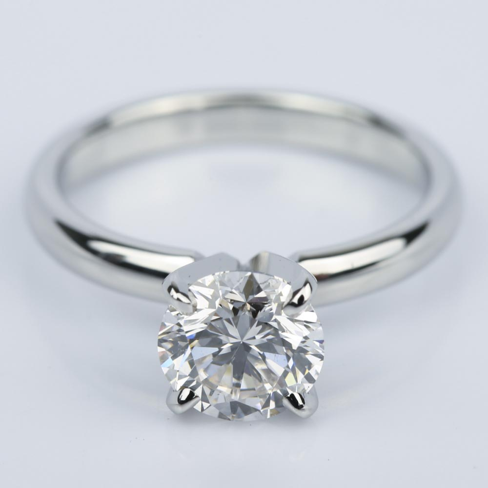 Comfort fit round diamond solitaire engagement ring ct