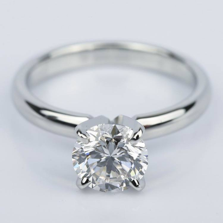 Comfort-Fit Round Diamond Solitaire Engagement Ring (1.24 ct.)