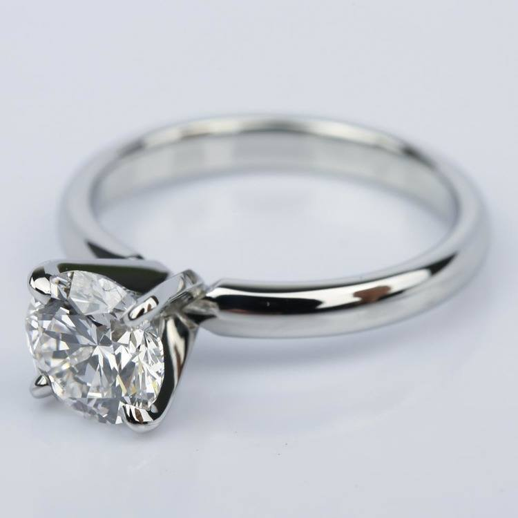 Comfort-Fit Round Diamond Solitaire Engagement Ring (1.24 ct.) angle 2