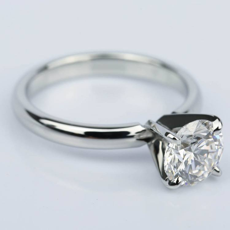 Comfort-Fit Round Diamond Solitaire Engagement Ring (1.24 ct.) angle 3