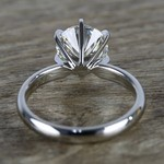 2 Carat Round Diamond in Platinum Six-Prong Ring Setting - small angle 4