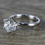 2 Carat Round Diamond in Platinum Six-Prong Ring Setting - small angle 2