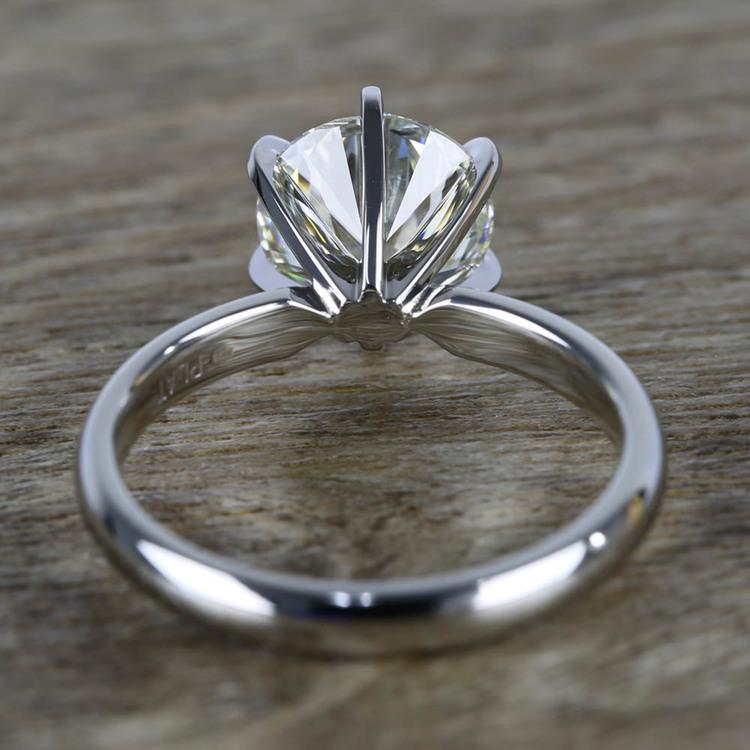 2 Carat Round Diamond in Platinum Six-Prong Ring Setting angle 4