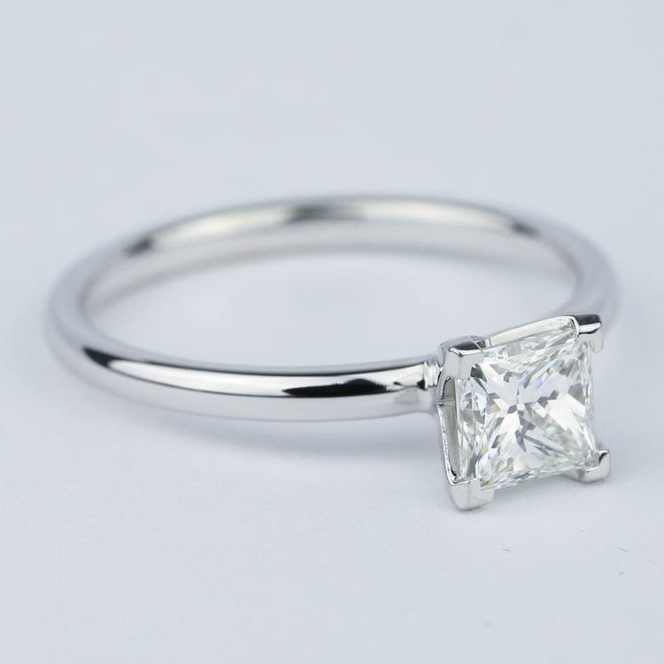 Comfort-Fit Princess Solitaire Diamond Engagement Ring (0.90 ct.) angle 3