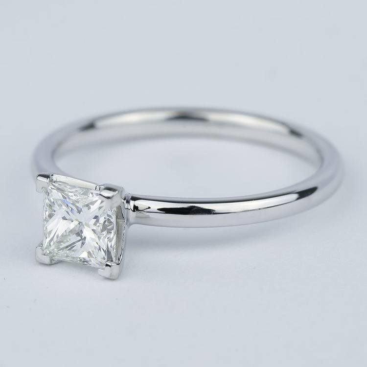 Comfort-Fit Princess Solitaire Diamond Engagement Ring (0.90 ct.) angle 2