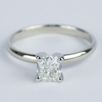 Cushion Diamond Solitaire Engagement Ring (0.96 ct.) - small