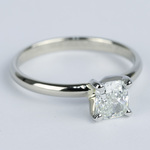 Cushion Diamond Solitaire Engagement Ring (0.96 ct.) - small angle 3