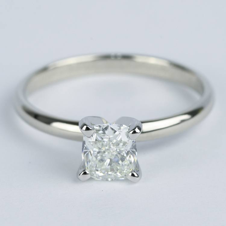 Cushion Diamond Solitaire Engagement Ring (0.96 ct.)