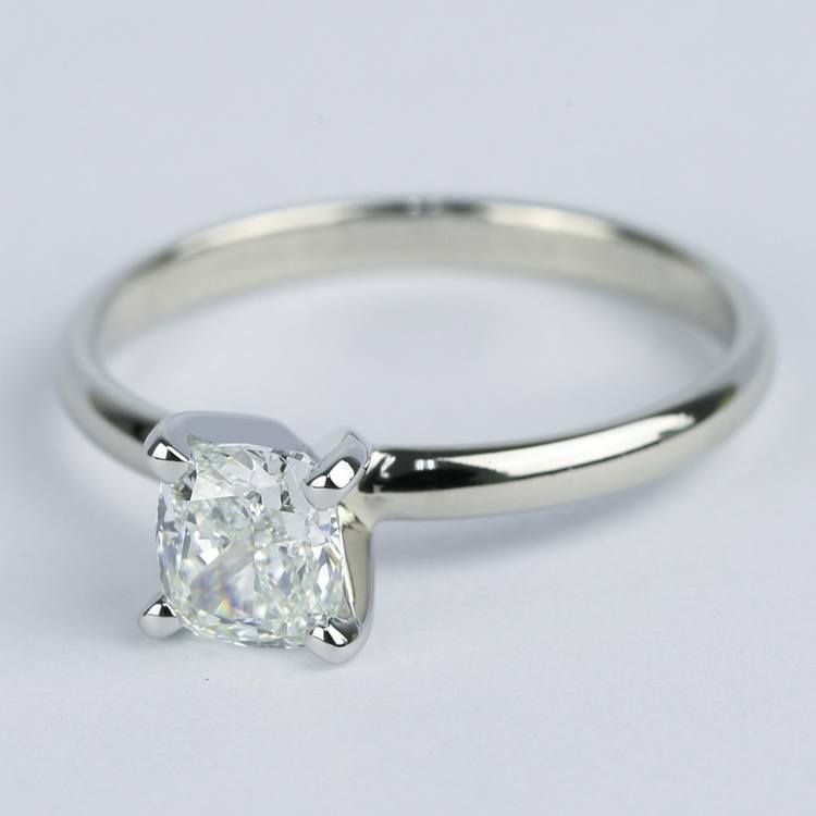Cushion Diamond Solitaire Engagement Ring (0.96 ct.) angle 2
