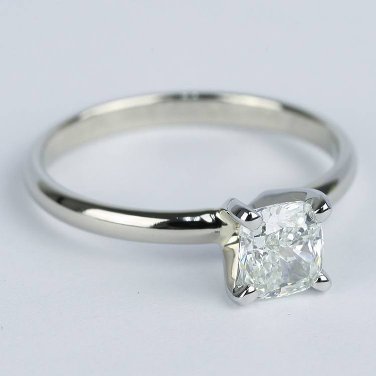 Cushion Diamond Solitaire Engagement Ring (0.96 ct.) angle 3