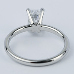 Flawless Emerald Diamond Solitaire Engagement Ring - small angle 4