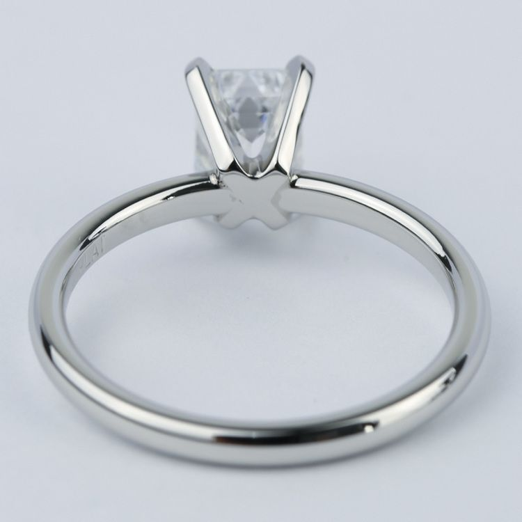 Flawless Emerald Diamond Solitaire Engagement Ring angle 4