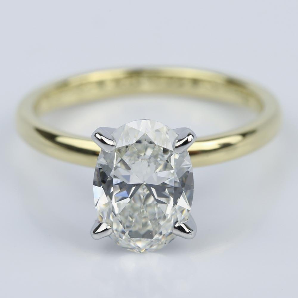 comfort fit solitaire carat oval diamond engagement ring. Black Bedroom Furniture Sets. Home Design Ideas
