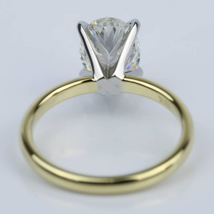 Comfort-Fit Solitaire 1.51 Carat Oval Diamond Engagement Ring angle 4
