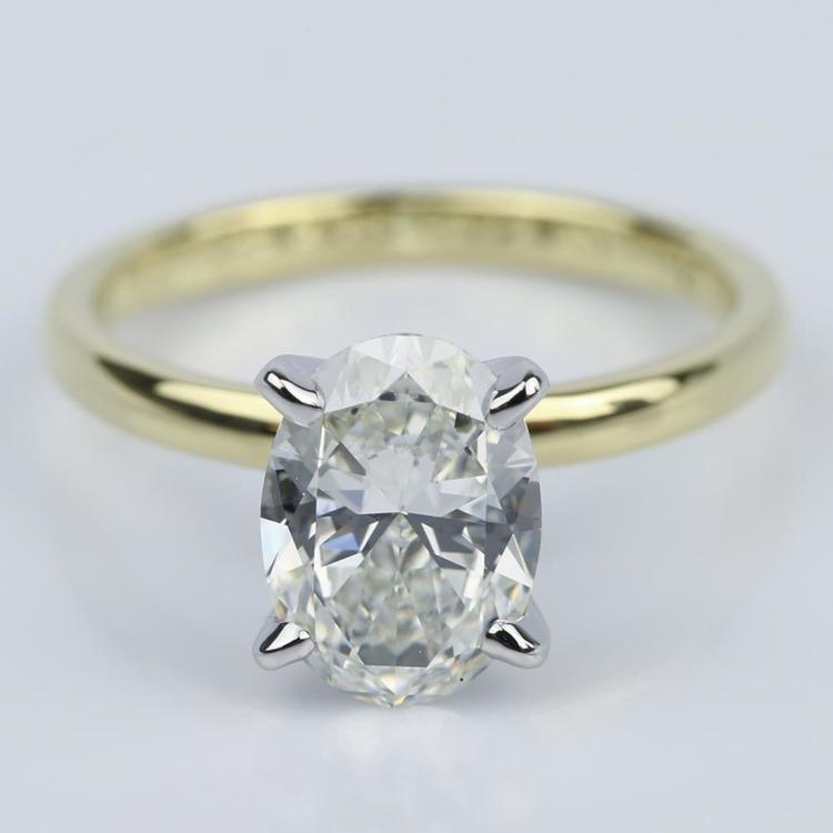 Comfort-Fit Solitaire 1.51 Carat Oval Diamond Engagement Ring