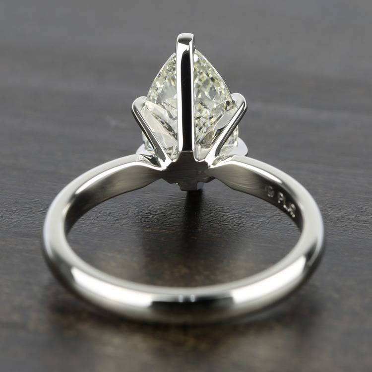 2 Carat Pear Diamond with Comfort-Fit Solitaire Ring angle 4
