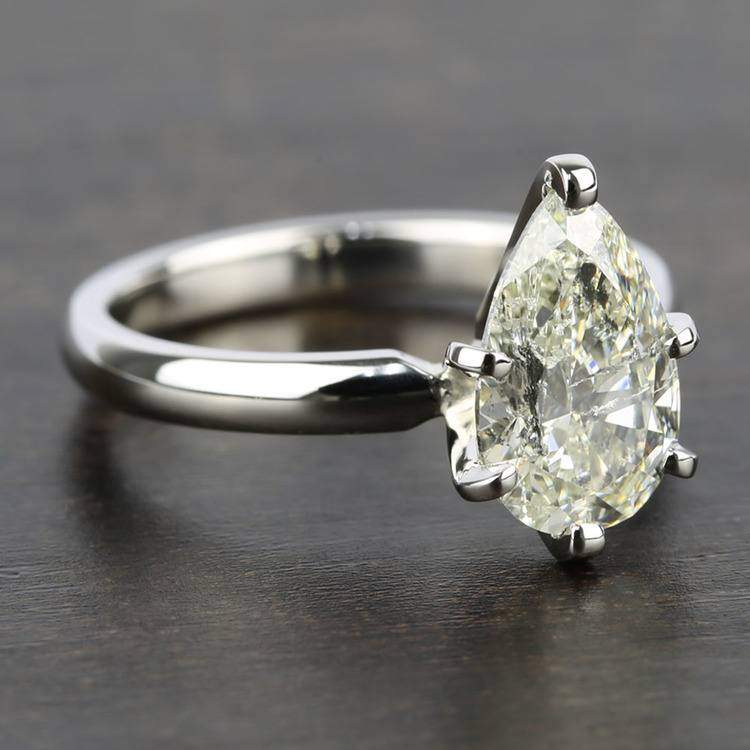 2 Carat Pear Diamond with Comfort-Fit Solitaire Ring angle 3