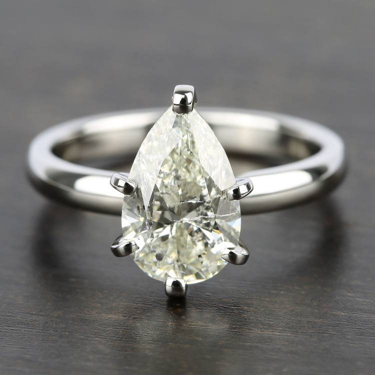 2 Carat Pear Diamond with Comfort-Fit Solitaire Ring