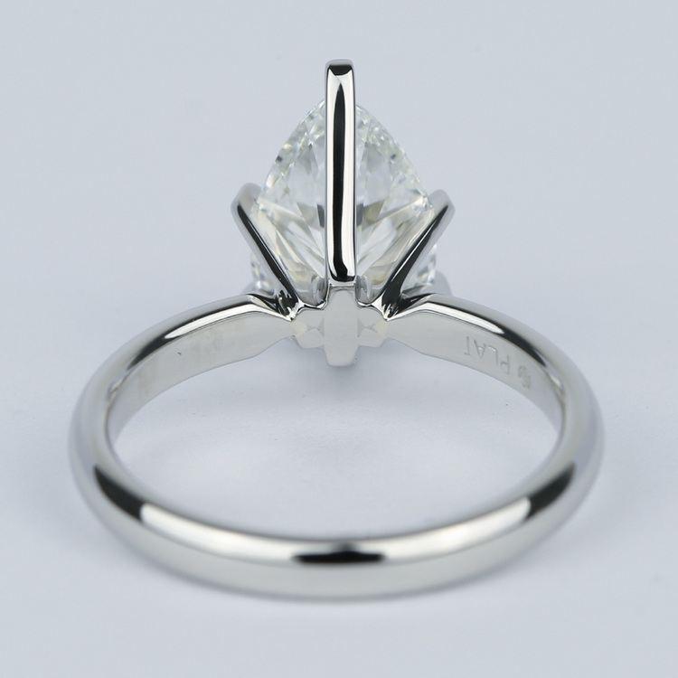 2 Carat Pear Diamond Engagement Ring in Platinum angle 4