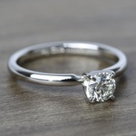 Comfort-Fit Solitaire Engagement Ring In Platinum (0.46 ct.) - small angle 3