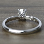 Comfort-Fit Solitaire Engagement Ring In Platinum (0.46 ct.) - small angle 4