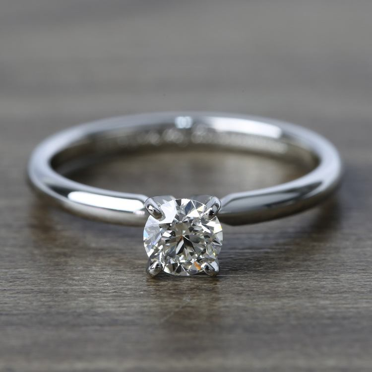 Comfort-Fit Solitaire Engagement Ring In Platinum (0.46 ct.)