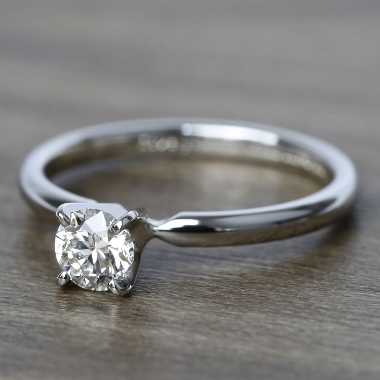 Comfort-Fit Solitaire Engagement Ring In Platinum (0.46 ct.) angle 2