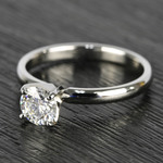 0.90 Carat Round Diamond Comfort-Fit Solitaire Engagement Ring - small angle 2