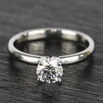 0.90 Carat Round Diamond Comfort-Fit Solitaire Engagement Ring - small