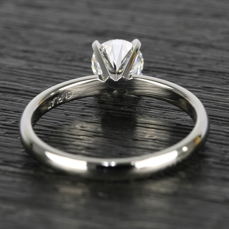 0.90 Carat Round Diamond Comfort-Fit Solitaire Engagement Ring angle 4
