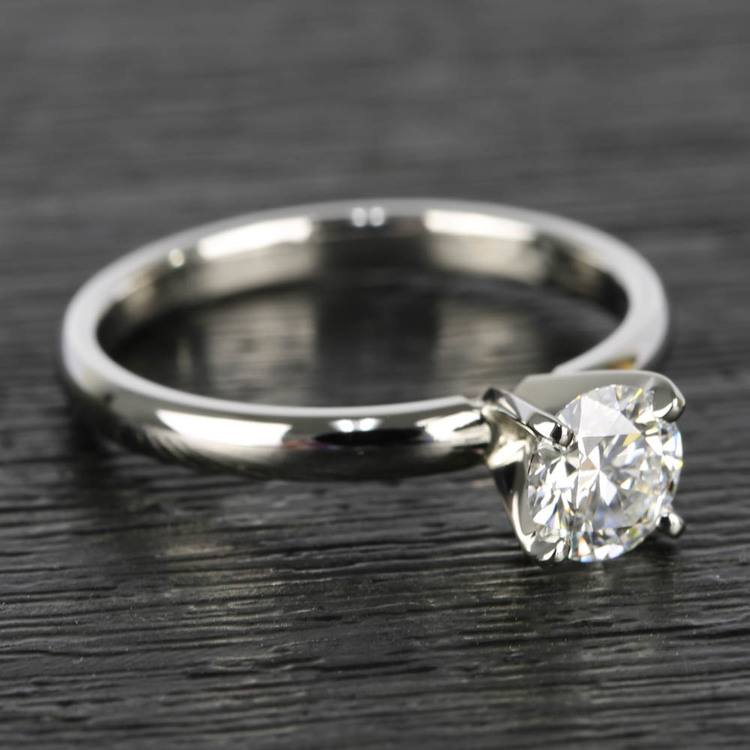 0.90 Carat Round Diamond Comfort-Fit Solitaire Engagement Ring angle 3