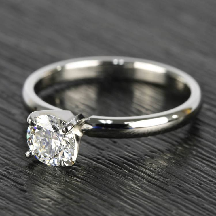 0.90 Carat Round Diamond Comfort-Fit Solitaire Engagement Ring angle 2