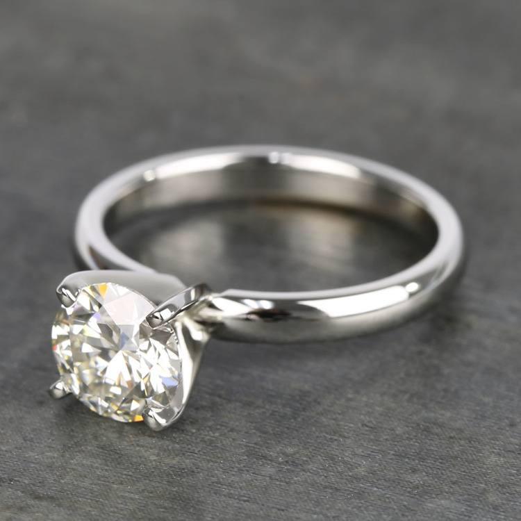 1.26 Carat Brilliant Round-Cut Diamond Engagement Ring angle 2