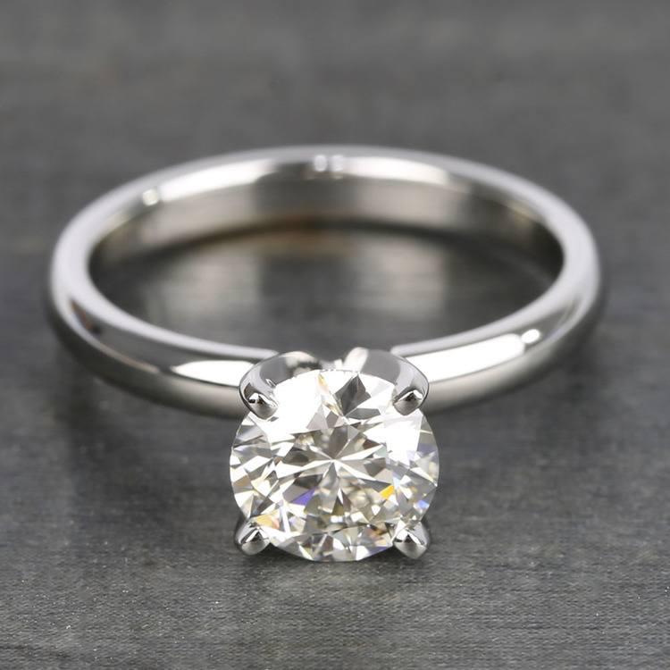 1.26 Carat Brilliant Round-Cut Diamond Engagement Ring